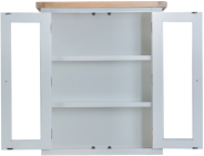 Pippa Grey/ White Painted Small Dresser Top With Lights And Lime Washed Oak Top