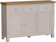 Isabella Painted Oak 3 Drawer 3 Door Sideboard