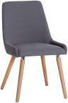 Retro Style Fabric Chair- Grey