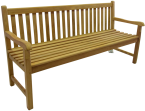 Solid Teak Classic Bench 180cm