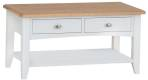 Rosie Painted Oak Large Coffee Table- White