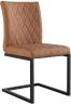 Diamond Stitch Armless Chair- Tan