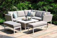 Pulse Square Corner Dining Set With Rising Table- Lead Chine