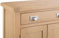 Belle Lime-Washed Oak Small 2 Door 1 Drawer Sideboard