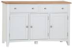 Rosie Painted Oak 3 Door Sideboard- White