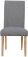 Studded Fabric Dining Chair- Light Grey