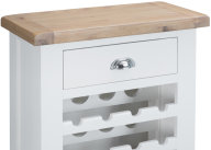 Pippa Grey/ White Painted Wine Cabinet With Lime- Washed Oak Top