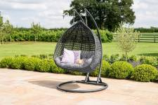 Rose Double Hanging Chair- Brown/ Grey
