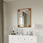 Small Rectangle Mirror Available With Gold Or Silver Frame (MIR01- REC)