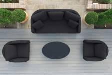 Ambition 3 Seat Sofa Set- Charcoal