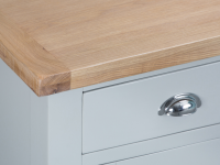 Pippa Grey/ White Painted Large Sideboard With Lime- Washed Oak Top