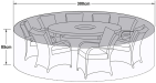 Cover For 8 Seat Round Set