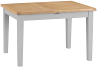 Pippa Painted 1.2 Butterfly Extending Table With Lime- Washed Oak Top- Grey